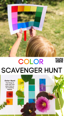 How to go on a color scavenger hunt