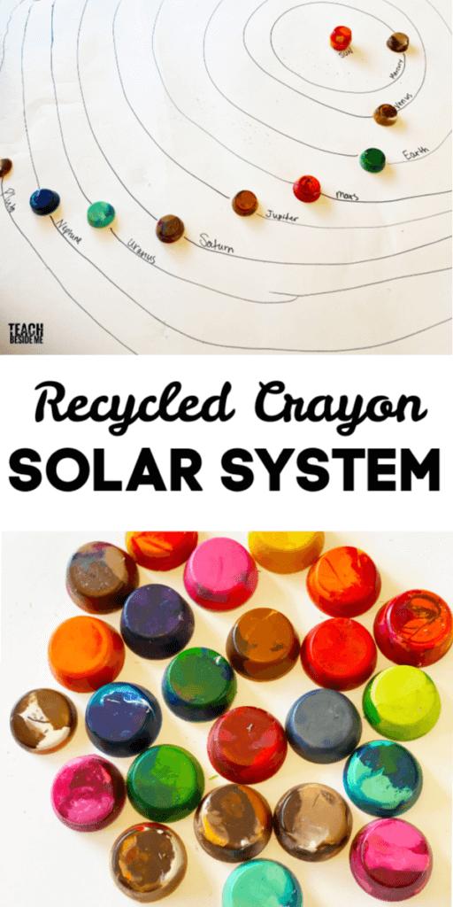 Jumbo Crayon solar system model