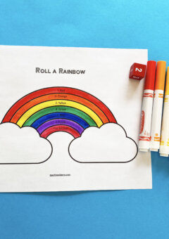 Roll a Rainbow Preschool Math Game