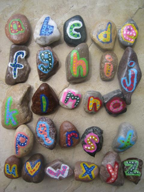 Alphabet Rock Art