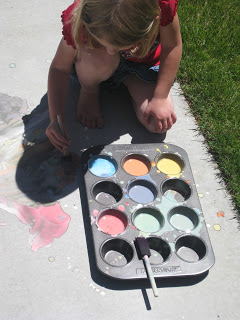 Painting the Driveway with Sidewalk Chalk Paint