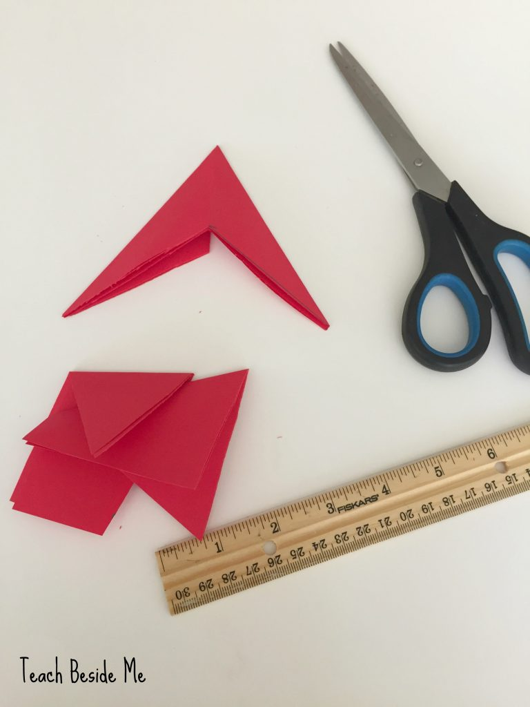 make a five pointed star- origami star
