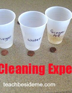 Experiment- cleaning pennies