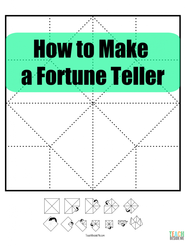 how to make a fortune teller cootie catcher