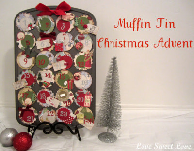 muffin tin Christmas Advent