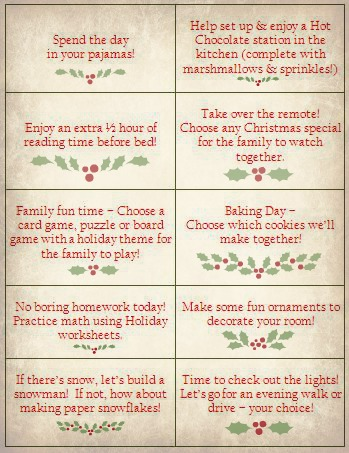 Make some holiday coupons for your kids with the fun idea from kc