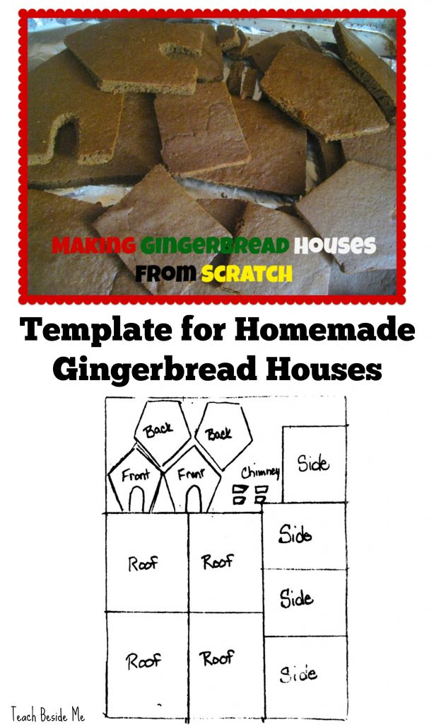 Template for homemade gingerbread houses
