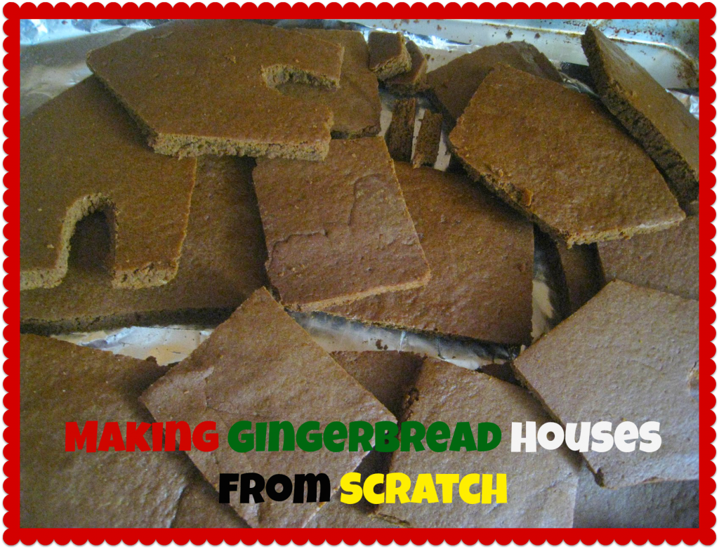 homemade gingerbread houses- with template