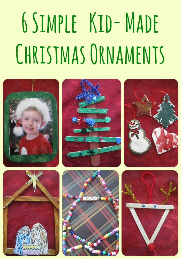kid-made ornaments
