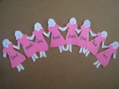 Spelling Paper Dolls