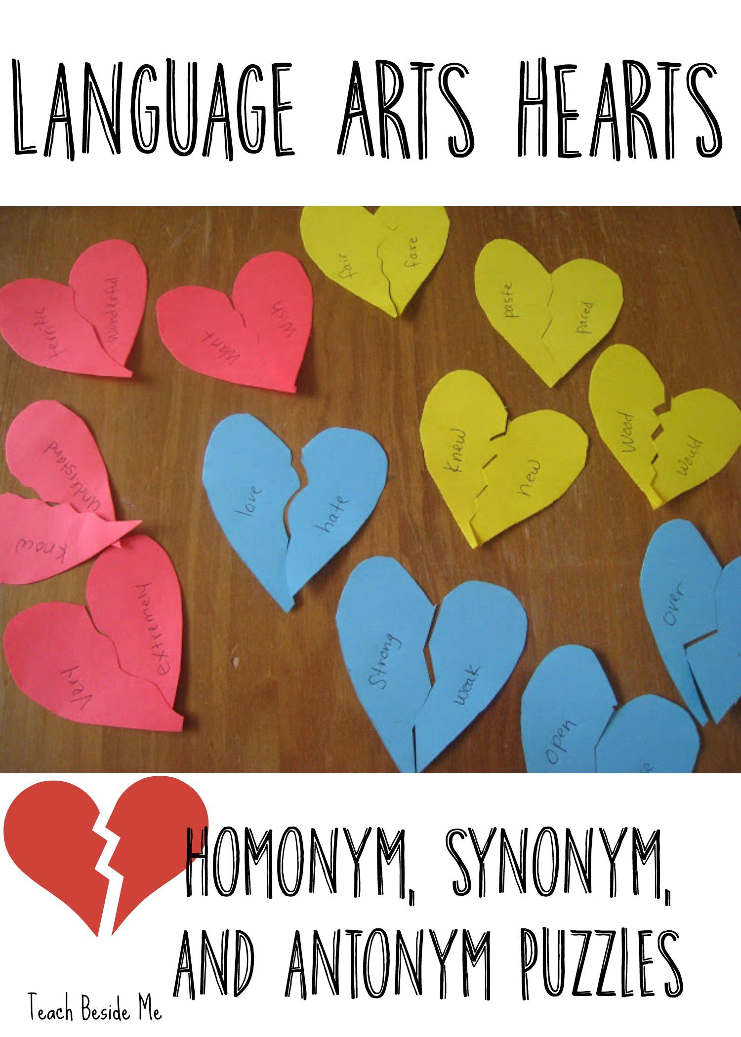 Valentine Learning: Language Arts Broken Hearts