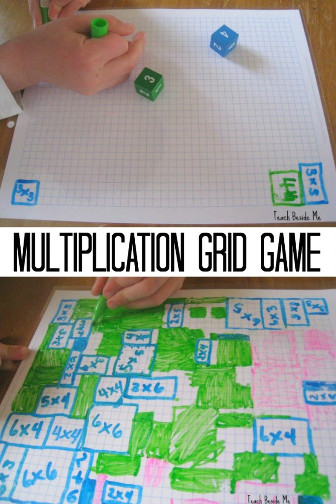 Multiplication grid game from Teach Beside Me