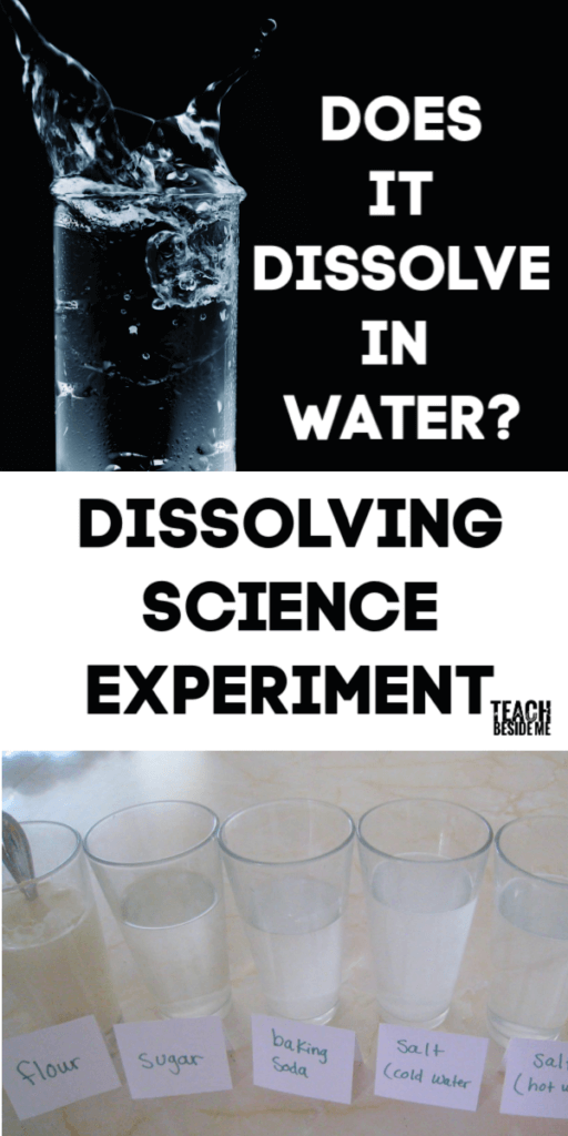 does it dissolve science experiment
