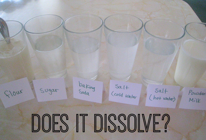 Dissolving Science Experiment