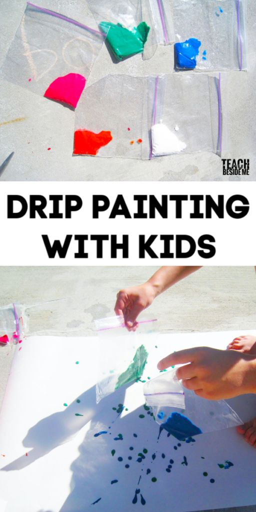drip painting art project for kids