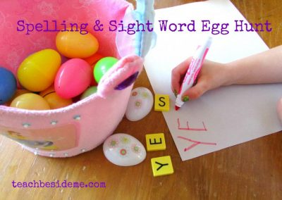 spelling egg hunt