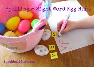 spelling egg hunt