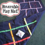 Reversible Hopscotch and Tic-Tac-Toe Mat