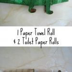 Rainforest Animal Crafts~ Toilet Paper Roll Iguana