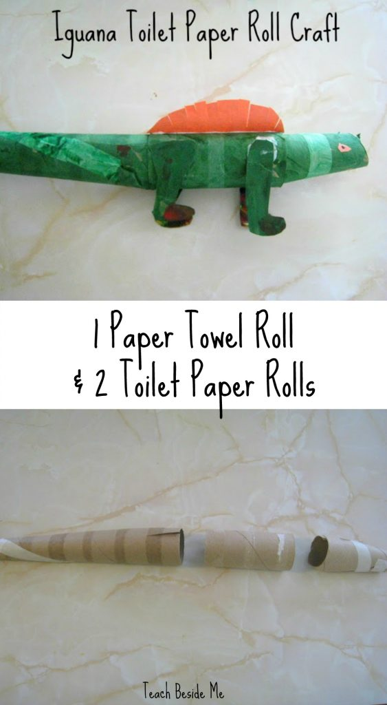 Rainforest Animal Crafts Toilet Paper Roll Iguana Teach Beside Me