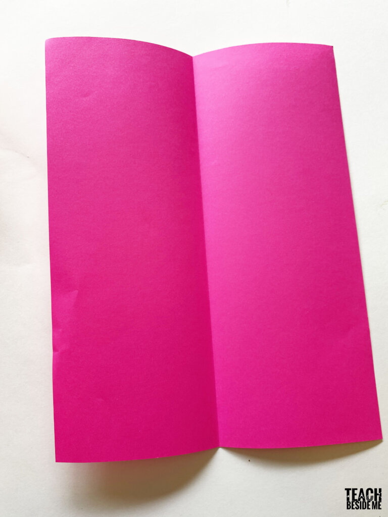 how to make a book with 1 piece of paper step 1
