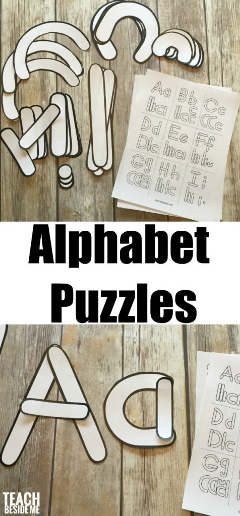 Preschool Alphabet Letter Building Templates Teach Beside Me