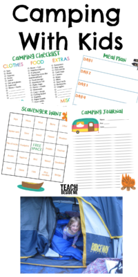 Camping With Kids- checklist and activities
