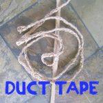 Duct Tape Indiana Jones Whip