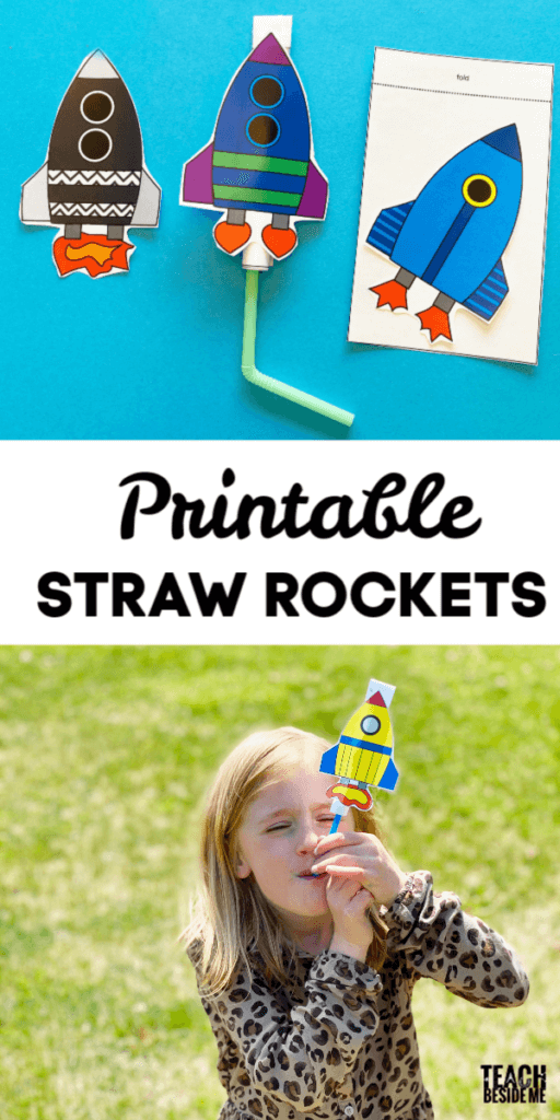 Printable Straw Rocket for Kids