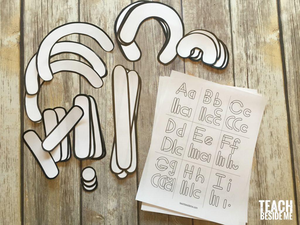 letter building templates- preschool alphabet