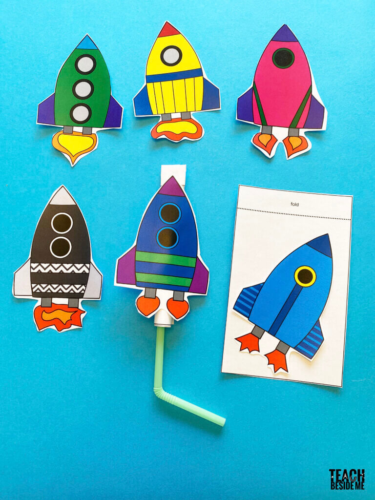 printable straw rockets for kids