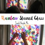 Rainbow Stained Glass Window