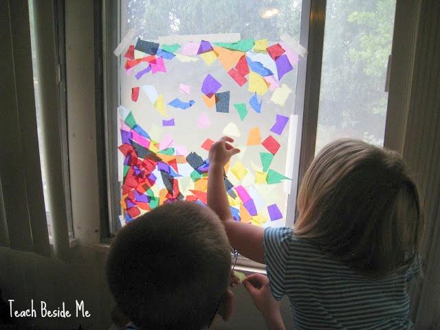 Rainbow window craft