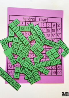 Hundred Chart Puzzle with Printable