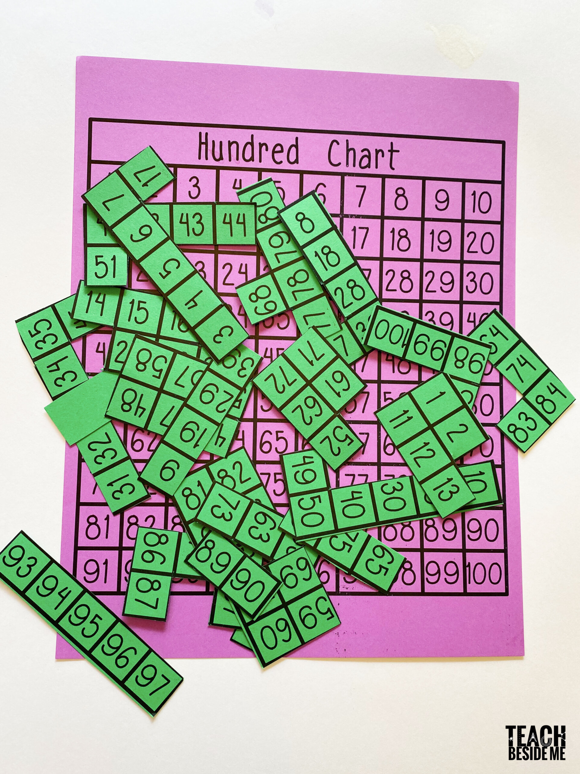 Hundred Chart Puzzle With Printable Teach Beside Me