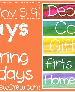 Preparing for the Holidays~ Homemade Gifts for Kids