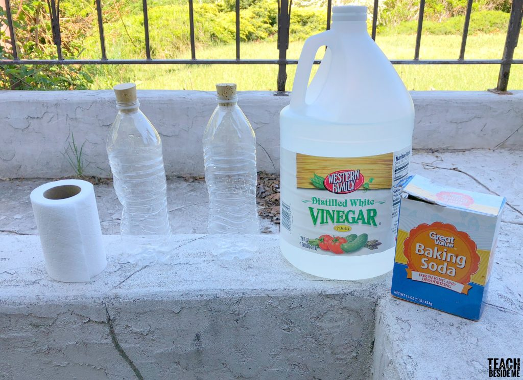 baking soda vinegar rockets supplies