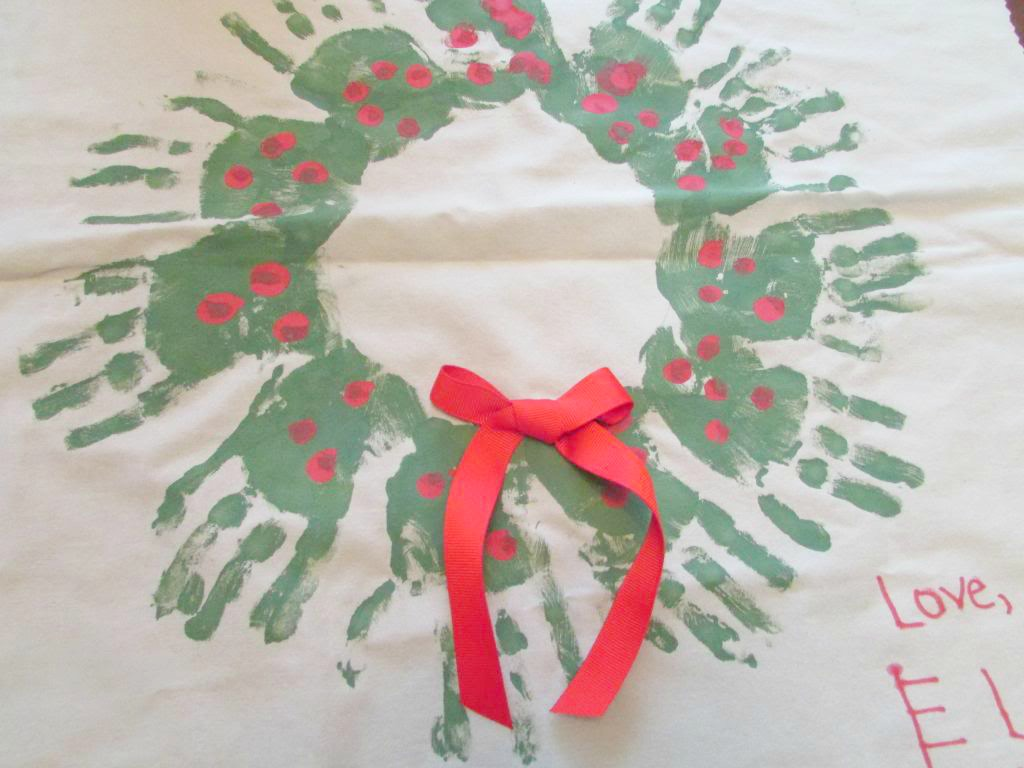 Christmas Handprint Wreath – Homemade Gift Idea