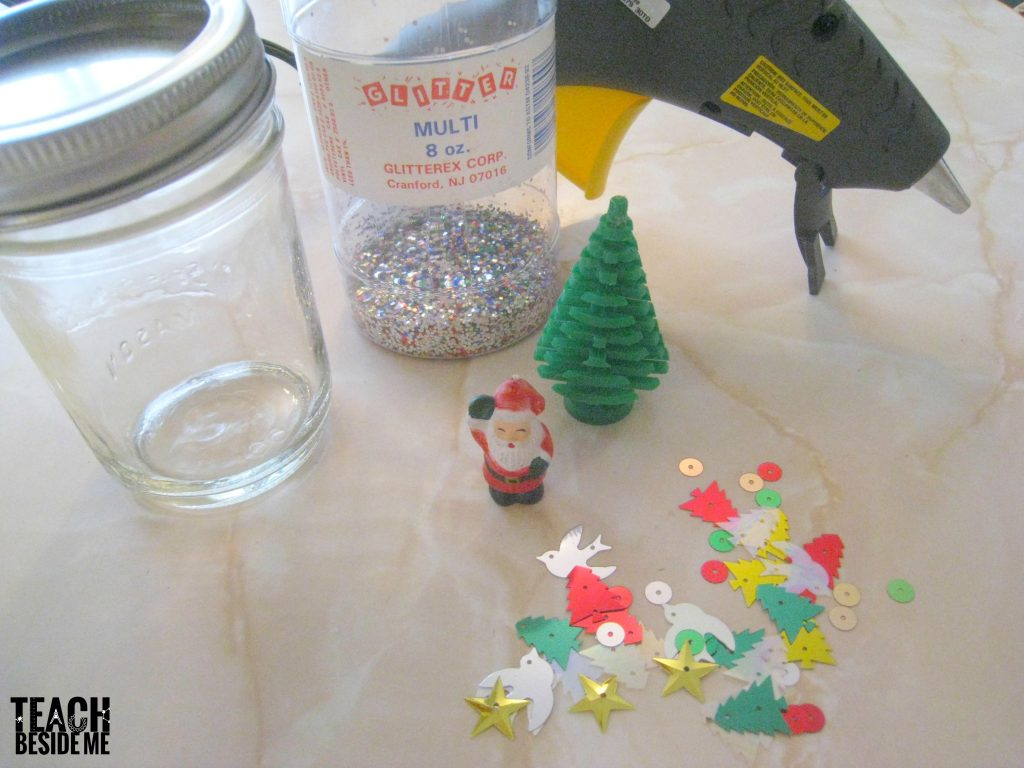 homemade snow globe supplies