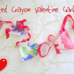 Melted Crayon Valentine Garland