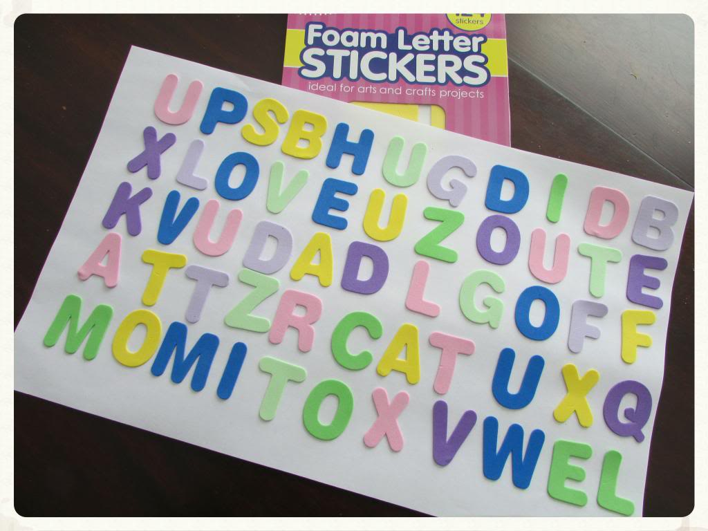 Foam Letter Word Search
