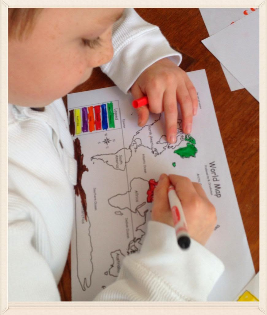 geography lesson for kids- me on the map
