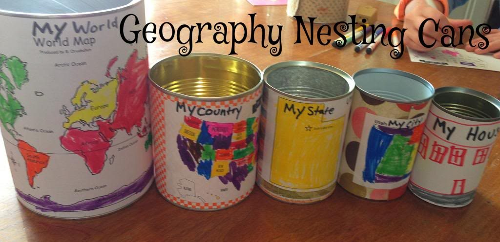 Geography nesting cans