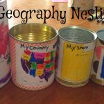 Me on the Map Geography Nesting Cans