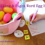 Spelling & Sight Word Game~ Egg Hunt