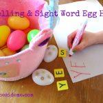 Spelling & Sight Word Game~ Egg Hunt
