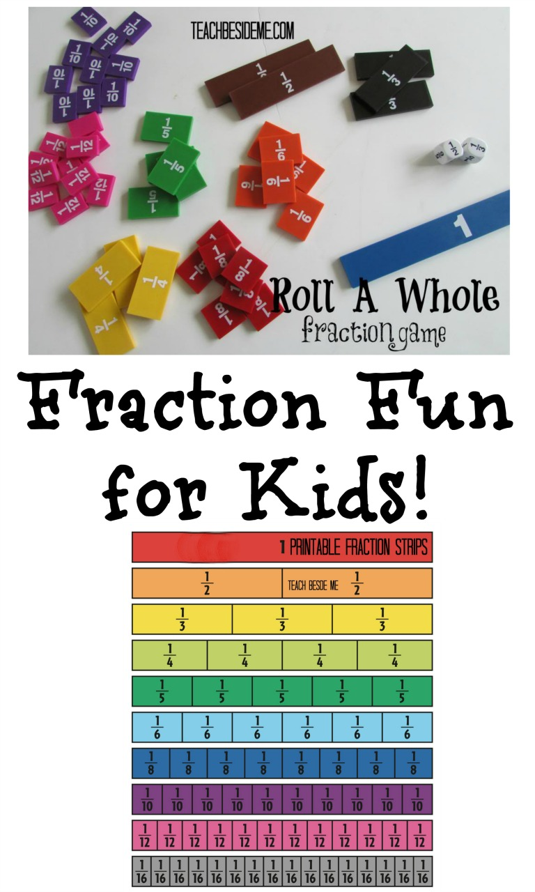 Roll a Whole -Fraction Math Game