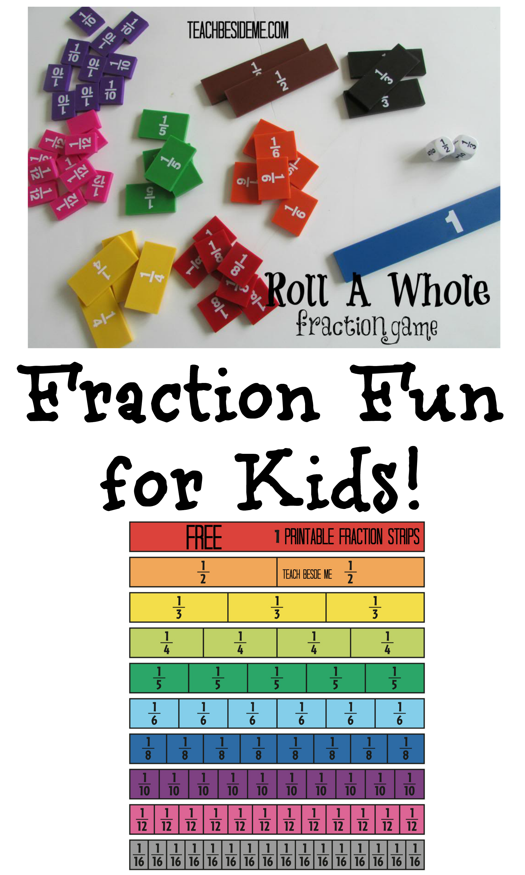 Roll a Whole -Fractions Math Game