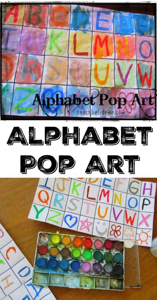 alphabet pop art- teach beside me