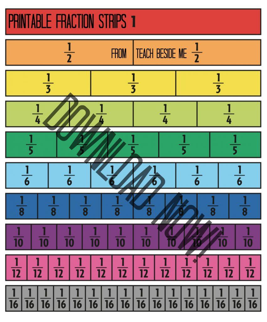 Fraction print strip